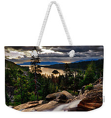 Standing At Eagle Falls Weekender Tote Bag