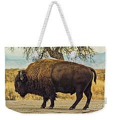Standing Buffalo Weekender Tote Bag by Steven Parker