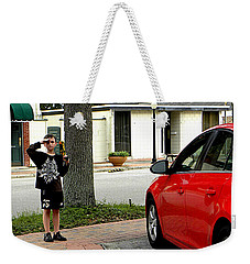 Weekender Tote Bag featuring the photograph Standing Guard  by Chris Mercer