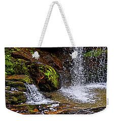 Standing In Motion - Brasstown Falls 011 Weekender Tote Bag by George Bostian