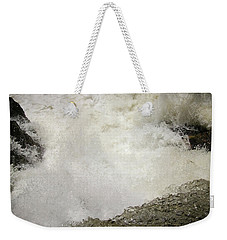 Standing On A Waterfall Weekender Tote Bag