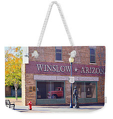 Weekender Tote Bag featuring the photograph Standing On The Corner by AJ Schibig