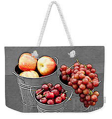 Weekender Tote Bag featuring the photograph Standing Out As Fruit by Sherry Hallemeier