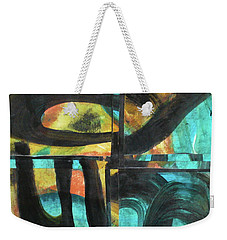 Weekender Tote Bag featuring the painting Honoring Standing Rock Water Protectors by Mary Sullivan