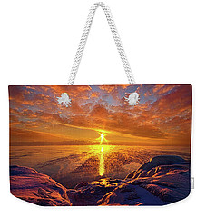 Weekender Tote Bag featuring the photograph Standing Stilled by Phil Koch
