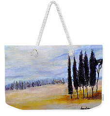 Weekender Tote Bag featuring the painting Standing Tall by Dottie Branchreeves