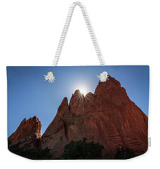 Standstone Sunburst - Garden Of The Gods Colorado Weekender Tote Bag