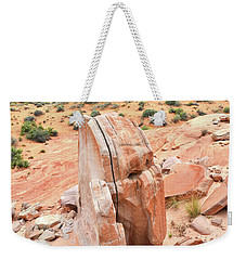 Weekender Tote Bag featuring the photograph Standup Sandstone In Valley Of Fire by Ray Mathis