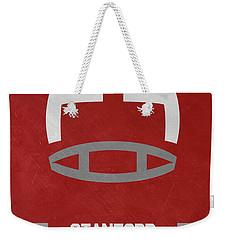 Stanford Cardinals Vintage Football Art Weekender Tote Bag