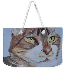 Weekender Tote Bag featuring the drawing Stanley by Jo Baner
