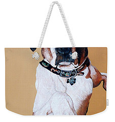 Weekender Tote Bag featuring the painting Stanley by Tom Roderick