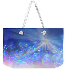 Weekender Tote Bag featuring the photograph Star And Bubbles by Greg Collins