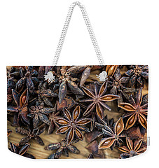 Weekender Tote Bag featuring the photograph Star Anise by Sabine Edrissi