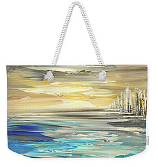 Weekender Tote Bag featuring the painting Star Born by Tatiana Iliina