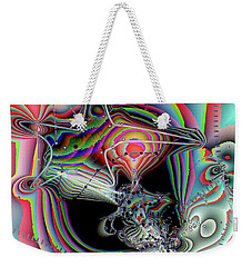 Weekender Tote Bag featuring the digital art Star Defomation by Ron Bissett