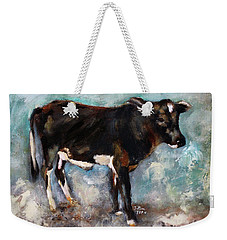 Weekender Tote Bag featuring the painting Star Dust by Barbie Batson