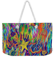 Weekender Tote Bag featuring the painting Star E Nite by Kevin Caudill