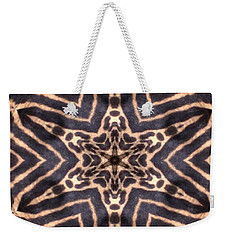 Star Of Cheetah Weekender Tote Bag by Maria Watt