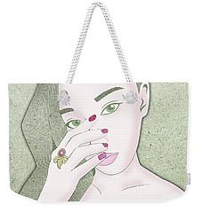 Star Ruby Weekender Tote Bag