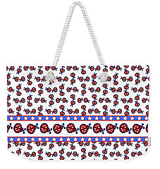 Weekender Tote Bag featuring the digital art Star-spangled Lady Bugs by Methune Hively