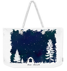 Weekender Tote Bag featuring the digital art Star Struck by Heather Applegate