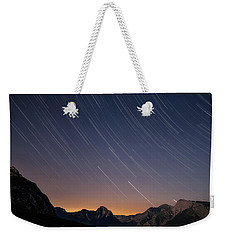 Star Trails Over The Apuan Alps Weekender Tote Bag