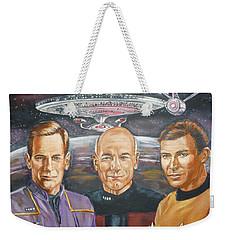Star Trek Tribute Enterprise Captains Weekender Tote Bag by Bryan Bustard