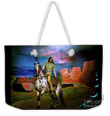 Weekender Tote Bag featuring the digital art Star Walker by Shadowlea Is