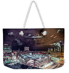 Weekender Tote Bag featuring the photograph Star Wars Detroit by Nicholas Grunas