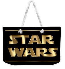 Star Wars Golden Typography On Black Weekender Tote Bag