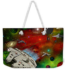Weekender Tote Bag featuring the painting Star Wars by Michael Rucker