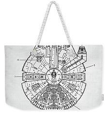 Star Wars Millennium Falcon Patent Weekender Tote Bag by Taylan Apukovska