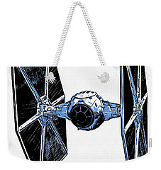 Star Wars Tie Fighter Weekender Tote Bag by Edward Fielding