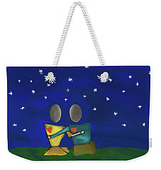 Star Watching Weekender Tote Bag by Haleh Mahbod