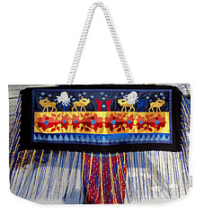 Weekender Tote Bag featuring the tapestry - textile Star Whistling by Chholing Taha