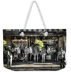 Weekender Tote Bag featuring the photograph Starbucks At The Market by Spencer McDonald