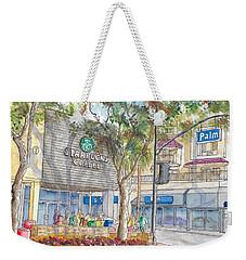 Starbucks Coffee In San Fernando Rd And Palms, Burbank, California Weekender Tote Bag