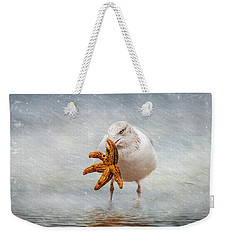 Starfish For Dinner Weekender Tote Bag