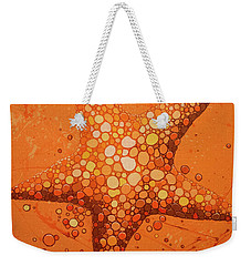 Starfish In Coral Weekender Tote Bag