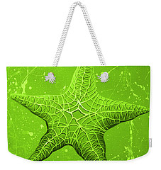 Starfish In Green Weekender Tote Bag