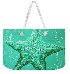 Starfish In Teal Weekender Tote Bag