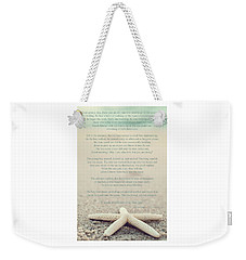 Starfish Make A Difference Vintage Set 1 Weekender Tote Bag