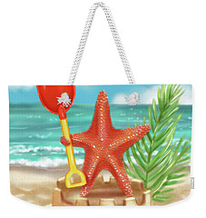 Starfish Makes A Sandcastle Weekender Tote Bag