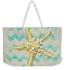 Starfish In Modern Waves Weekender Tote Bag by Sandi OReilly