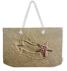 Starfish On The Beach Weekender Tote Bag by Debra Martz