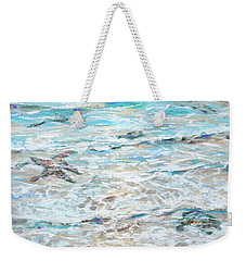 Starfish Under Shallows Weekender Tote Bag