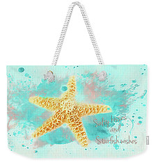 Weekender Tote Bag featuring the photograph Starfish Wishes by Darren Fisher