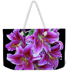 Stargazer Lily Cutout Weekender Tote Bag