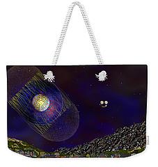 Weekender Tote Bag featuring the digital art Stargeist Contact by Iowan Stone-Flowers