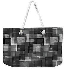 Stark Black Squares Abstract Pattern Weekender Tote Bag